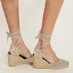 Minetom Femme Sandale Ouverte Plateforme, Chaussure Bohême Bride Arrière Sandales Talons Hauts Compensés Beige EU 34: Amazon.fr: Chaussures et Sacs