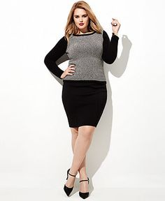 1e717e2c23470 Plus Size Fall Fashion Trend Report My Tailored Look Sweater   Pencil Skirt  Look Plus Sizes - Macy s