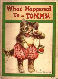 Frances Brundage What Happened to Tommy 1921 Cats Stecher Litho | eBay