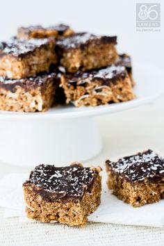 Peanut Butter Deluxe Crispy Rice Treats (vegan, gluten-free)