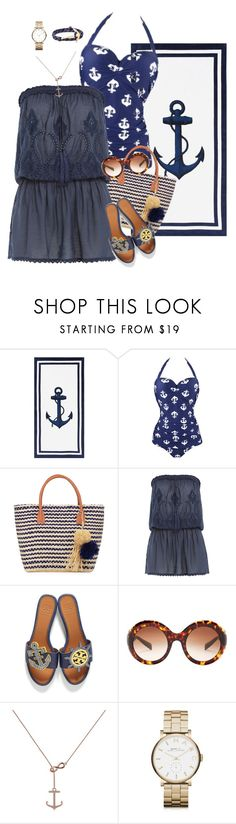 """""""vacation style"""" by nickiefinn ❤ liked on Polyvore featuring Pottery Barn, Buji Baja, Melissa Odabash, Tory Burch, Dolce&Gabbana, Allurez, Marc by Marc Jacobs and MIANSAI"""