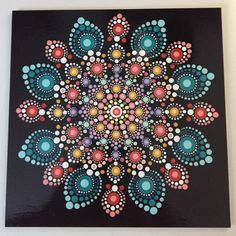 Hand Painted Mandala on an Artist Panel, Meditation Mandala, Dot Art, Calming, Healing, #459 by MafaStones on Etsy