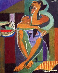 André Lhote (1885-1962) Onder de kubisten vertegenwoordigt Lhote een eigen stijl. Zijn werken lieten een zeer analytische en constructieve inslag zien, de mens blijft centraal centraal staan. Zijn werk toont een prachtig en verfijnd koloriet. In 1917 trad hij toe tot de kring van de synthetische kubisten rond Georges Braque en Juan Gris.