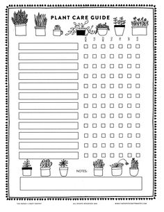 Download Our Printable Plant Care Guide   Watering Schedule for Your House Plants