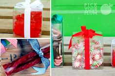 Perfect plastic gift containers! Great for parties!