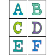 """""""3 inch Carnival Alphabet"""" This #MachineApplique set can be created using traditional applique methods, and is also compatible for use with the AccuCut C103 die. This alphabet will be a fun addition to your alphabet design sets for personalization, banners and more!"""