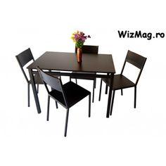 Set masa din lemn cu 4 scaune WIZ MBS-2 The Wiz, Conference Room, Dining Table, Furniture, Home Decor, Decoration Home, Room Decor, Dinner Table, Home Furnishings
