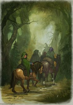 Long way by ~CG-Warrior on deviantART (This is EXCACTLY how I pictured it to look like when the hobbits started their journey at the beginning of the book!)