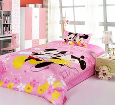 Mickey And Minnie Pink Disney Bedding Sets