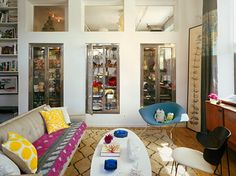 A bright, chic room pulled together with a hip, tribal Beni Ourain.