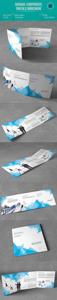 Square Corporate Trifold Brochure Template #design Download: http://graphicriver.net/item/square-corporate-trifold-brochure/12966663?ref=ksioks