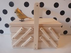 Wooden sewing box  - feel free to visit our nkcraftstudio shop on Etsy.com