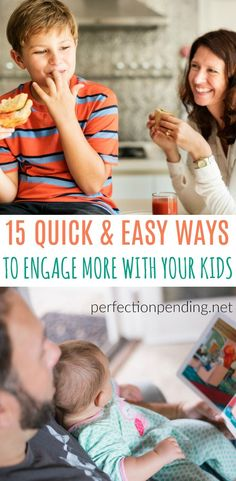 Positive parenting doesn\'t have to take a lot of time, and it can be quick and easy ideas to engage with your kids, interact with them, and make them feel loved throughout the day. Here are 13 parenting techniques that you can do every day to show your kids that you care about them. #parenting #parenthood #positiveparenting #love #kids #teens #babies #motherhood