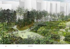 Stoss Inc + Shu Chang Architects - Taichung Gateway Park Proposal Alvar Aalto, Cultural Center, Culture, Landscape, Park, Plants, Google Search, Scenery, Parks