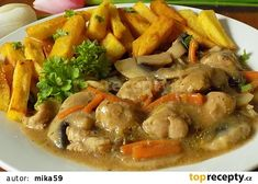 Czech Recipes, Ethnic Recipes, Japchae, No Cook Meals, Food Videos, Thai Red Curry, Food And Drink, Pizza, Menu