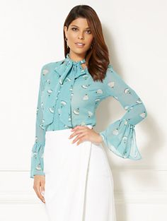 Shop Eva Mendes Collection - Evie Blouse. Find your perfect size online at the best price at New York & Company.