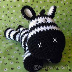 Zeb the zebra amigurumi pattern by Janice Cyr / madisonscraftnook