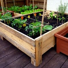 Plant your own vegetables even without a garden with this simple and cost saving planter box!