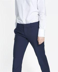 PANTALON COTON DOUBLE - Pantalons - Femme - NOUVELLE COLLECTION | ZARA France