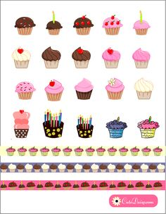 printable-cupcake-stickers.png (1284×1655)