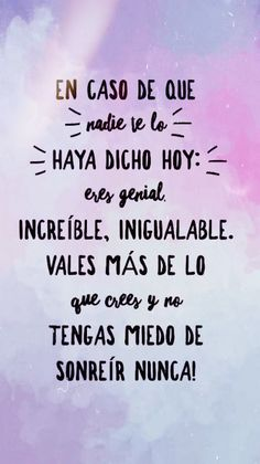 Wallpapers with motivational phrases. Motivational phrases for your cell phone rnrnSource by distamara Inspirational Phrases, Motivational Phrases, Positive Phrases, Positive Vibes, Deco Rose, Spanish Quotes, Good Vibes, Sentences, Bff