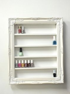 DIY nail polish organizar Baroque Nail Polish Frame Display by DaintyCreations on Etsy