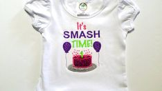 Check out Cake Smash Shirt - First Birthday Shirt - 1st Cake Smash - Kids Birthday Shirts - Embroidered Shirt - Glitter Shirt - Cake Smash Props on sweetbabycakesbows