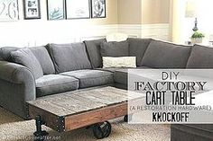 DIY Factory Cart Table {A Restoration Hardware Knockoff}