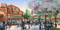 buena vista street concept art, california adventure