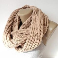 beige infinity scarf, women, men scarves, winter trends, fashion accessories, gift ideas