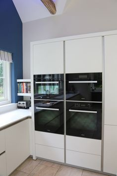 white kitchen eye level oven - Google Search