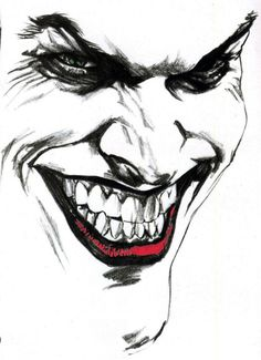 A Joker Face Tattoo Design photo - 1