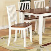 Steve Silver Furniture Branson Side Chair in White and Oak (Set of 2)