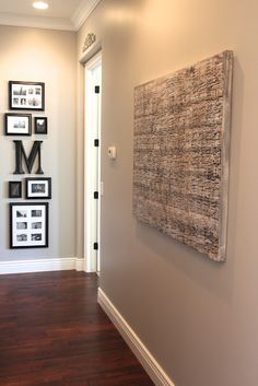 Gallery wall with initial