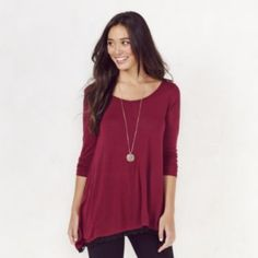 Women's LC Lauren Conrad Laser cut Tunic