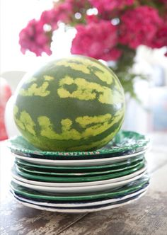 a07a3d0d48a ~  WATERMELON SUMMER  ~ · Go ahead and mix various styles of tableware
