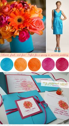 Summer Wedding Colors | Daisy & Summer Wedding Color Love | Unique Wedding Invitations ...