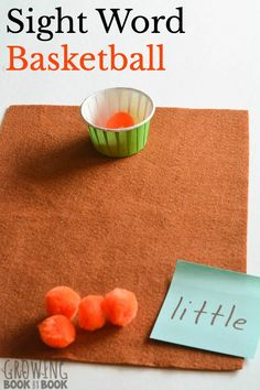 Basketball Sight Word Practice Try this fun sight word game with a basketball theme. A hands-on idea for building sight word recognition perfect for individual kids or partners. Teaching Sight Words, Sight Word Practice, Sight Word Games, Sight Word Activities, Phonics Activities, Reading Activities, 2nd Grade Reading Games, Dinosaur Activities, Spanish Activities