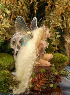 Mini Sculpture, Art Dolls in Denver: OOAK fairy Rapunzel doll by Nadiia