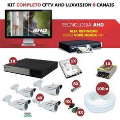 Kit Completo Segurança AHD 8 Canais Luxvision