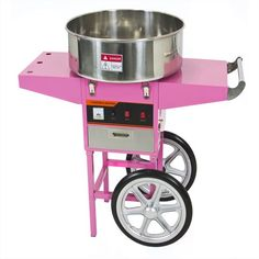 Electric Commercial Cotton Candy Machine Floss Maker Pink Cart Stand