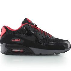 nike WMNS AIR MAX 90 black/red