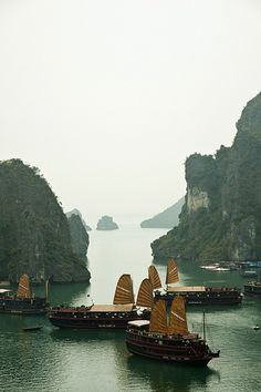 Ha Long Bay, Vietnam    www.liberatingdivineconsciousness.com -- High on my list, though seems a little harder to get around than Thailand...