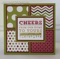 Cheers Single Stamp Square Card by amyk3868 - Cards and Paper Crafts at Splitcoaststampers
