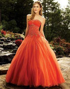 Orange and Gold Quinceanera Dresses, Red, Orange and Gold Quinceanera Gowns - Mis Quince Mag
