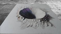 CRATER ILLUSION - Drawing 3D Crater - Anamorphic Illusion on Paper