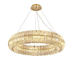 New Ring Crystal Chandelier LED Living Room Household Light Nordic Simple Restaurant LED Chandelier Room Lights, Ceiling Lights, Ring Chandelier, Living Room Lighting, Modern Lighting, Household, Bulb, Restaurant, Crystals