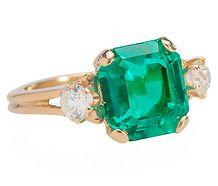 Emerald City - Diamond Emerald Ring