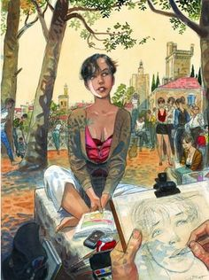 This man's muse looks a lot like a French version of you... Artodyssey: Jean Pierre Gibrat