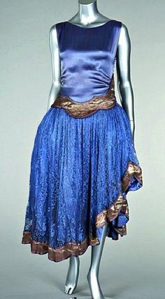 Jeanne Lanvin dress, circa 1925.